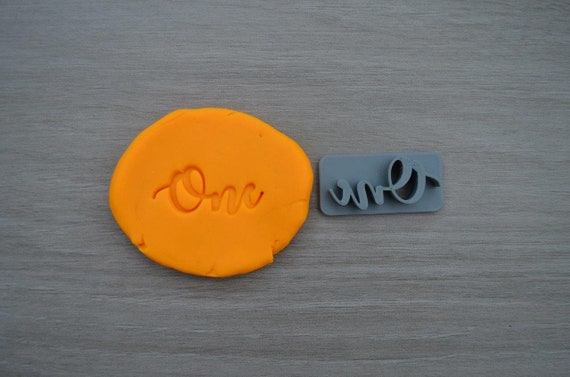 One First Birthday 1st Birthday Imprint Font 1 2.8cm Cookie/Fondant/Soap/Embosser Stamp