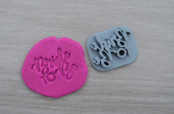 Bride to Be Imprint 3.4cm Cookie/Fondant/Soap/Embosser Stamp