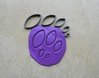 Football / Leaf Shape Polymer Clay Cutter Set Cookie Fondant Cutters