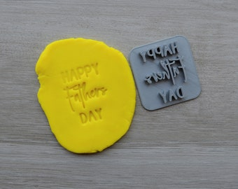 Happy Fathers Day Font 3 Imprint Cookie/Fondant/Soap/Embosser Stamp