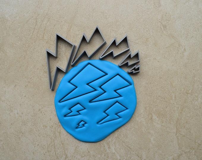 Lightning Bolt Polymer Clay Cutter Set Cookie Fondant Cutters