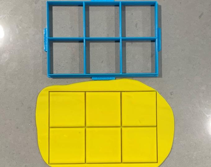 Square Multi Cutter Individual Cookie Cutter Fondant Cutter