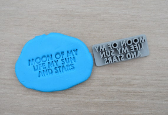 Moon Of My Life My Sun And Stars Imprint Cookie/Fondant/Soap/Embosser Stamp