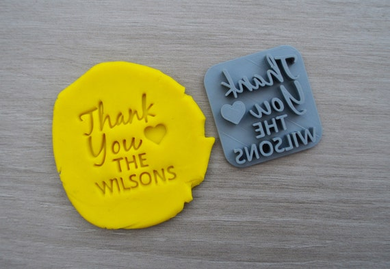 Thank You Love Name Imprint Custom Personalised Cookie/Fondant/Soap/Embosser Stamp