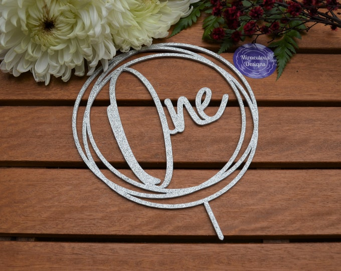 One Ring Cake Topper - 1st Birthday Party - Assorted Colours