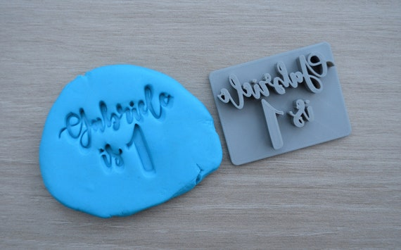 Age 1 Font 1 Custom/Personalized Name Cookie/Fondant/Soap/Embosser Stamp