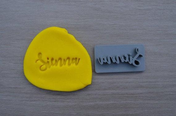Custom Name Imprint Font 1 Cookie/Fondant/Soap/Embosser Stamp