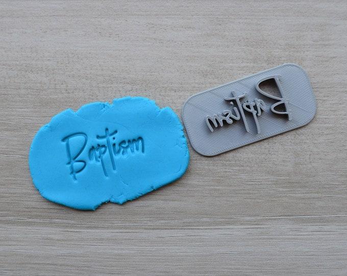 Baptism Font 2 Christening Confirmation Imprint Cookie/Fondant/Soap/Embosser Stamp