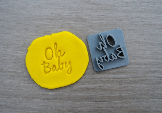 Oh Baby Font 3 Imprint Cookie/Fondant/Soap/Embosser Stamp