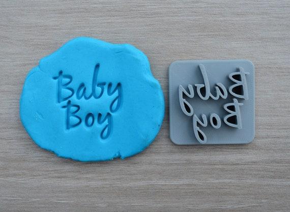 Baby Boy Imprint Font 3 Cookie/Fondant/Soap/Embosser Stamp