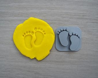 Baby Feet Imprint Cookie/Fondant/Soap/Embosser Stamp