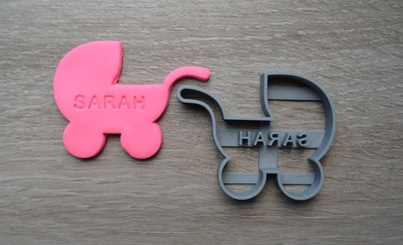 Pram Baby Shower Birth Baptism Christening Party Cookie Cutter Fondant Cutter Party Favor Custom/Personalised