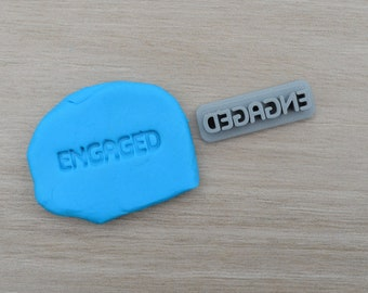 Engaged Imprint 3.2cm Cookie/Fondant/Soap/Embosser Stamp