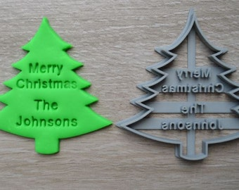 Christmas Tree Cookie Cutter Fondant Cutter Cake Topper Custom/Personalised