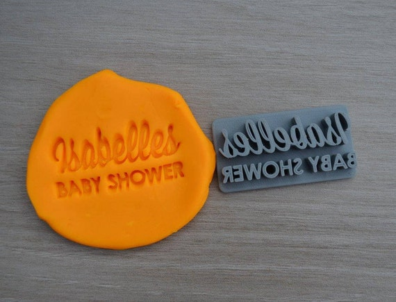 Baby Shower Name Imprint Custom Personalized Cookie/Fondant/Soap/Embosser Stamp