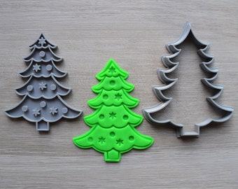 Christmas Tree Cookie Fondant Cutter & Stamp Fondant