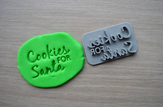 Cookies For Santa Imprint Cookie/Fondant/Soap/Embosser Stamp