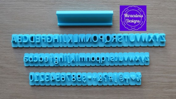 Block Plain Font Letter Sets - Individual Letters Number Special Characters Cookie Fondant Stamp Embosser