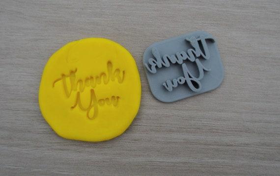 Thank You Imprint 4cm Font 1 Cookie/Fondant/Soap/Embosser Stamp