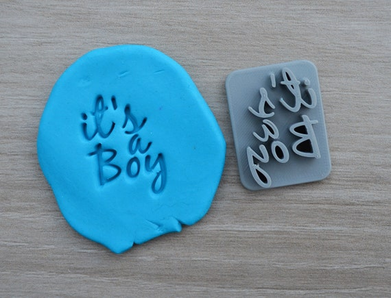 Its A Boy Font 2 Imprint Cookie/Fondant/Soap/Embosser Stamp