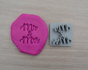 Mr & Mrs Imprint Font 1 Cookie/Fondant/Soap/Embosser Stamp