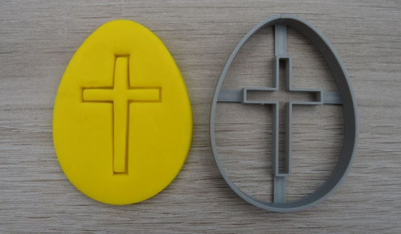 Easter Egg Cross Cookie Cutter Fondant Cutter