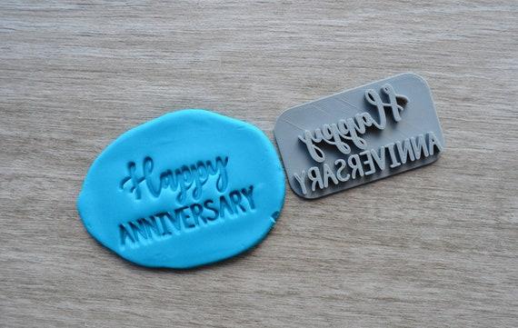 Happy Anniversary Imprint Cookie/Fondant/Soap/Embosser Stamp