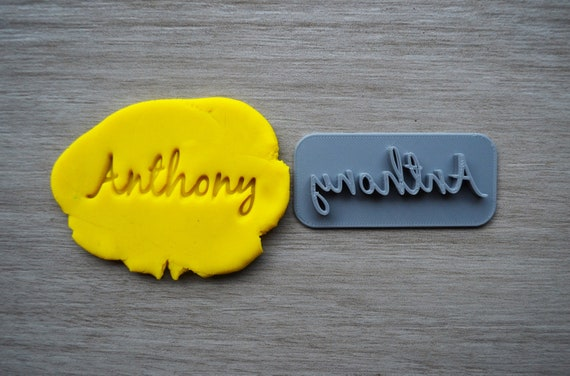 Custom Name Imprint Font 3 Cookie/Fondant/Soap/Embosser Stamp