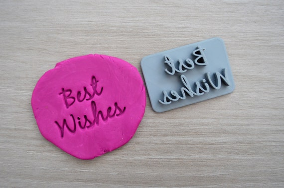 Best Wishes Imprint Cookie/Fondant/Soap/Embosser Stamp