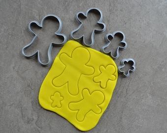 Gingerbread Man Polymer Clay Cutter Set Cookie Fondant Cutters