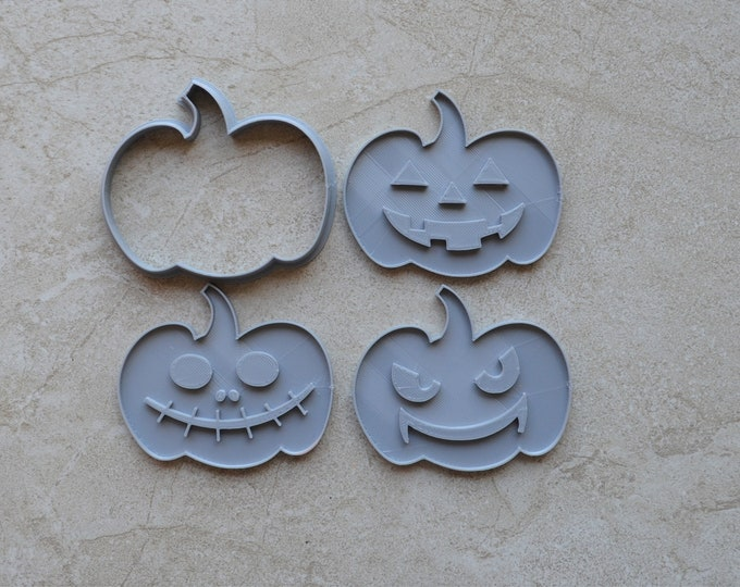 Pumpkin Face Cookie Fondant Cutter & Stamp Halloween Cookie