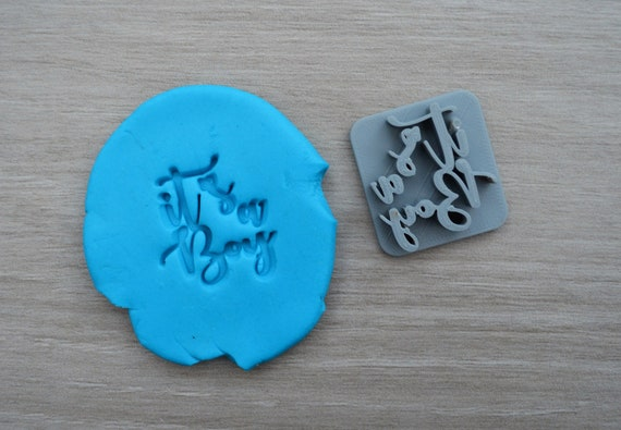 Its A Boy Font 1 Imprint Cookie/Fondant/Soap/Embosser Stamp