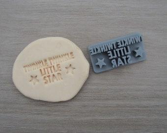 Twinkle Twinkle Little Star Imprint 4.4cm Cookie/Fondant/Soap/Embosser Stamp