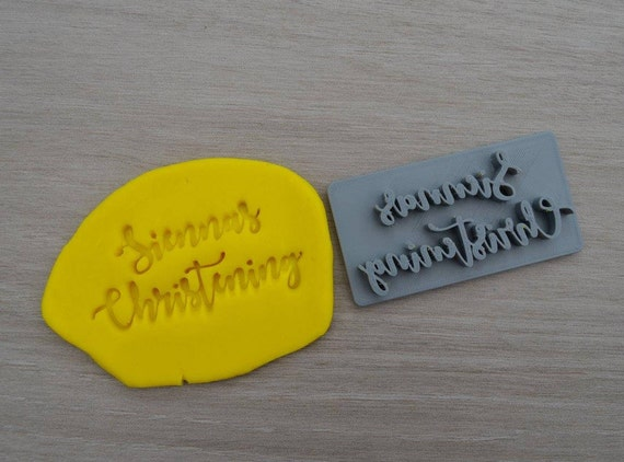 Christening Custom Name Imprint Personalized Cookie/Fondant/Soap/Embosser Stamp