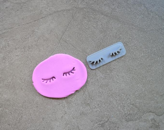Eyelashes Imprint Cookie/Fondant/Soap/Embosser Stamp