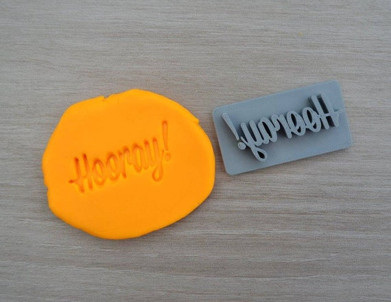 Hooray! Imprint Cookie/Fondant/Soap/Embosser Stamp