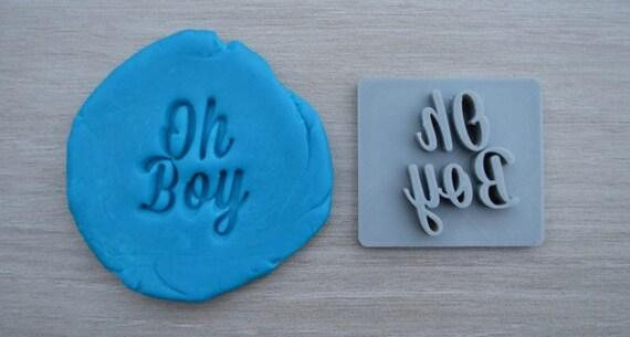 Oh Boy Imprint Font 1 Cookie/Fondant/Soap/Embosser Stamp