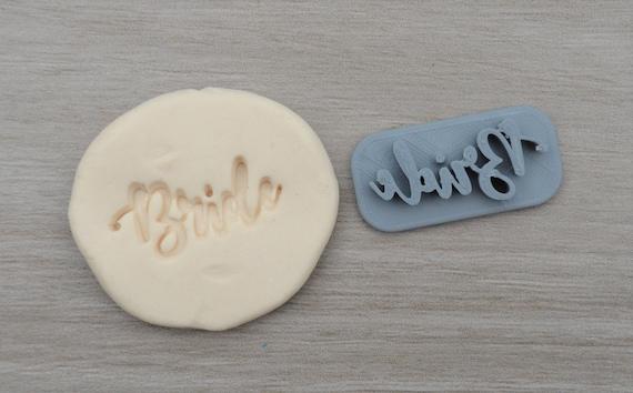 Bride Imprint 3.5cm Cookie/Fondant/Soap/Embosser Stamp