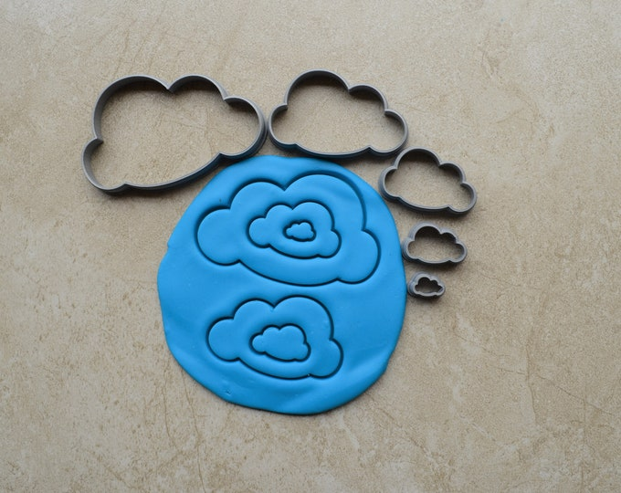Cloud Polymer Clay Cutter Set Cookie Fondant Cutters