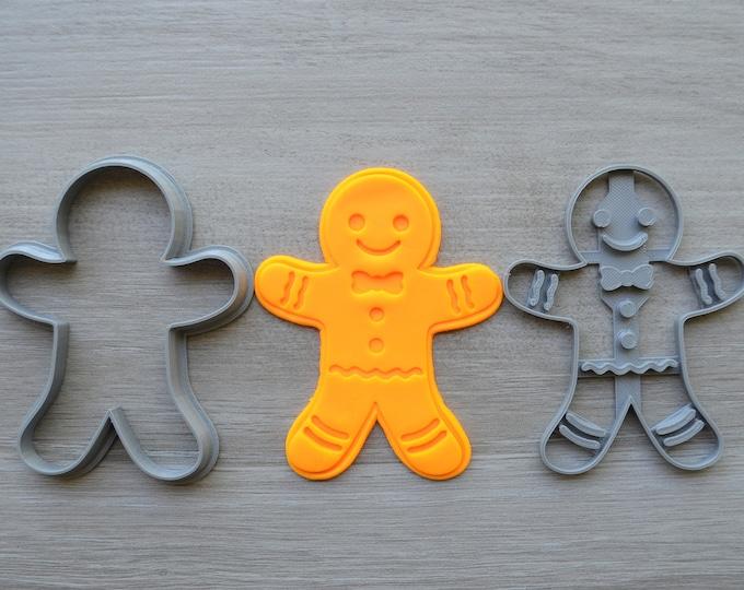 Gingerbread Man Cookie Fondant Cutter & Stamp Fondant