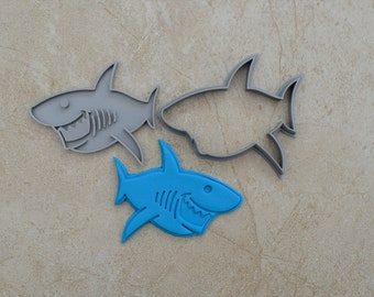Shark Cookie Fondant Cutter & Stamp Fondant