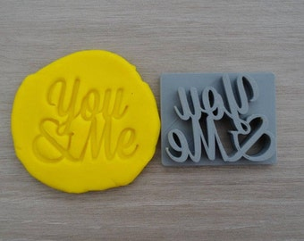 You & Me Imprint Cookie/Fondant/Soap/Embosser Stamp