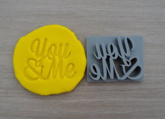 You & Me Imprint Cookie/Fondant/Soap/Embosser Stamp