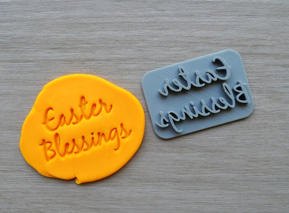 Easter Blessings Font Imprint Cookie/Fondant/Soap/Embosser Stamp