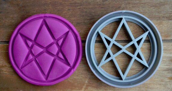 Unicursal hexagram Symbol Cookie Cutter Fondant Cutter