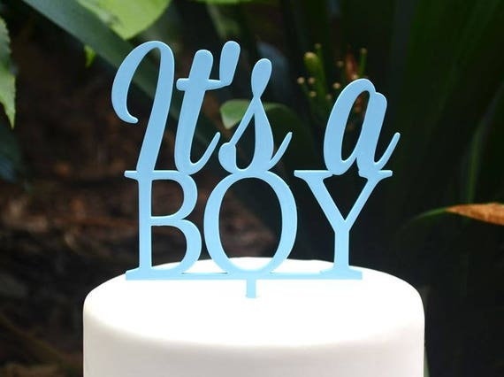 Its a Boy Cake Topper Font 1 - Baby Shower Cake Topper - Baby Boy Cake Topper