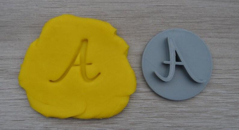 Custom Letter Initial Cookie Fondant Embossing  Stamp Personalised