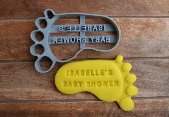 Baby Foot/Feet Shower Birth Baptism Christening Party Cookie Cutter Fondant Cutter Party Favor Custom/Personalised