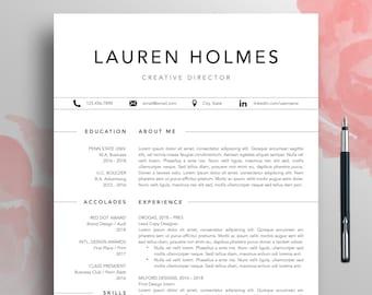 resume template cv template 1 3 page professional resume modern resume word creative simple resume download teacher resume mac lauren