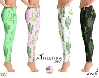 edee90dfbe8d Cactus Yoga Leggings Women Print Workout Cacti Succulents Fitness Dance  Gift Hot Gear Wear Activewear Sports Clothing Tights Pilates Running
